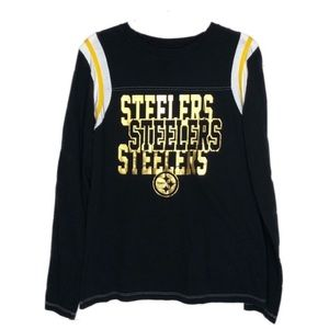 Pittsburgh Steelers NFL Long Sleeve Woman's Top M